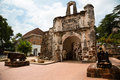 Porta de santiago in malacca malaysia the it all that remains of the portuguese a famosa fortress at Royalty Free Stock Photos