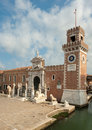 The porta magna at the venetian arsenal venice italy europe Royalty Free Stock Images