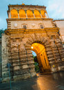 Porta nuova – city gate in palermo sicily italy Royalty Free Stock Photos