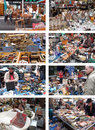 Porta Portese Flea Market in Rome, Italy Stock Photos