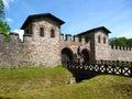 Porta Praetoria, the Main Entrance Gate to the Saalburg Roman Fort near Frankfurt, Germany Royalty Free Stock Photo