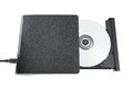 Portable cd dvd external drive on white background with clipping path Stock Photos