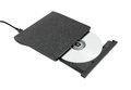 Portable cd dvd external drive on white background with clipping path Stock Image