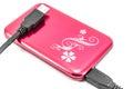 Portable external HDD hard disk drive Royalty Free Stock Photo