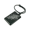 Portable external hdd hard disk drive with usb cable on white background Stock Photos