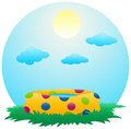 Portable pool illustration of a float nature background Royalty Free Stock Image