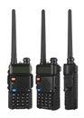Portable radio transceiver Royalty Free Stock Photo