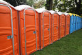 Portable toilets Royalty Free Stock Photography