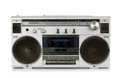 Portable vintage radio cassette recorder Royalty Free Stock Photo