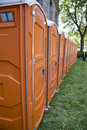 Portable Washroom Stalls Stock Photo