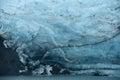 Portage glacier ice blue of in alaska Stock Photo