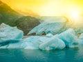 Portage Glacier melting