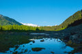 Portage valley in alaska on a early evening summer night Royalty Free Stock Image