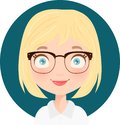 Portait of a Blonde cute receptionist Royalty Free Stock Photo