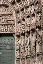 Portal fragment of the north of the cologne cathedral germany Royalty Free Stock Photography