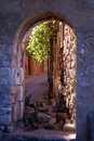 Portal in french village Royalty Free Stock Photography