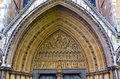 Portal tympanum Westminster Abbey, London, England Royalty Free Stock Photo