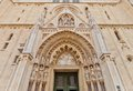 Portal of Zagreb cathedral (XVIII c.). Croatia Royalty Free Stock Photo