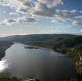Portas de Rodao lake overview Royalty Free Stock Photo