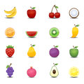 Porte des fruits les ic nes Photo stock