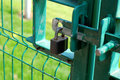 Porte Padlocked Photo libre de droits