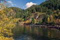 Porteau on the howe sound in british columbia along highway sea to sky highway beautiful terrain of canada s as fall begins Stock Photos