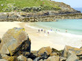 Portgwidden beach, St. Ives, Cornwall. Royalty Free Stock Photos