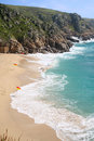 Porthcurno beach. Royalty Free Stock Photos