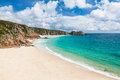 Porthcurno Cornwall England Royalty Free Stock Photo