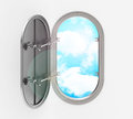 The porthole d generated picture of a Royalty Free Stock Photography