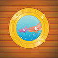 Porthole dollar euro fish Stock Image