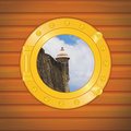 Porthole fort Royalty Free Stock Photography