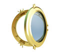 Porthole gold Royalty Free Stock Photo
