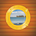 Porthole shore Royalty Free Stock Photography