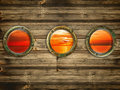 Portholes Royalty Free Stock Photography