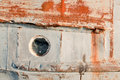 Portholes on the old ships rust Stock Photos