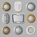 Portholes Of Various Shape Realistic Set