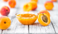 Portion of Apricot Jam & x28;selective focus& x29;