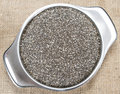 Portion of Chia Seeds Royalty Free Stock Photos