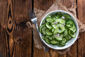 Portion of Cucumber Salad Royalty Free Stock Photo