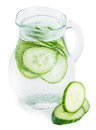 Portion of Cucumber Water isolated on white