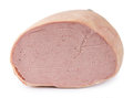 Portion of Liverwurst isolated on white