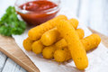 Portion of Mozzarella Sticks Royalty Free Stock Photo