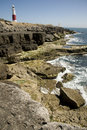Portland bill coastline dorset dramatic at england Stock Photo
