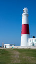 Portland bill lighthouse at with blue sky Royalty Free Stock Images
