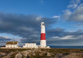 Portland bill lighthouse dorset jurassic coast world heritage site england uk Stock Photo