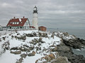 Portland Head Light in Winter Royalty Free Stock Photography