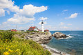 Portland Head Lighthouse in Maine Royalty Free Stock Photo