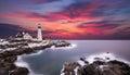 Portland Headlight, Cape Elizabeth Maine Royalty Free Stock Photo