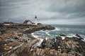 Portland Headlight in Maine Royalty Free Stock Photo